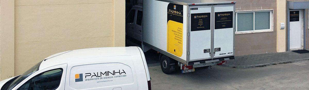 Carrinhas para transportar materiais da empresa Palminha